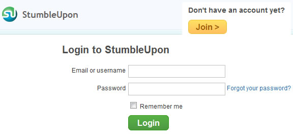 StumbleUpon Login
