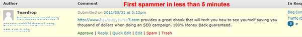 First comment spammer