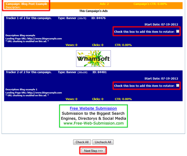 Free Banner Rotator Script Plus Tracking » Free-Web ...
